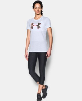 Women's UA Charged Cotton® Camo Logo T-Shirt  1 Color $14.24