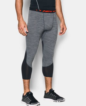 New Arrival Men's HeatGear® CoolSwitch Armour Twist Compression ¾ Leggings   $44.99
