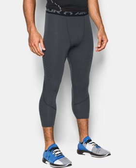 New Arrival Men's HeatGear® CoolSwitch Armour Twist Compression ¾ Leggings  3 Colors $44.99