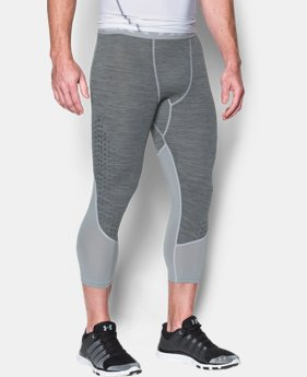 New Arrival Men's HeatGear® CoolSwitch Armour Twist Compression ¾ Leggings  1 Color $44.99