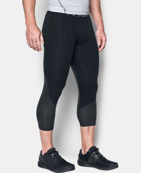 Men's HeatGear® CoolSwitch Armour Compression ¾ Leggings  3 Colors $44.99
