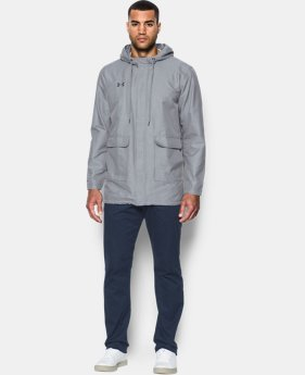 New to Outlet Men's Twill Rain Jacket  1 Color $97.99