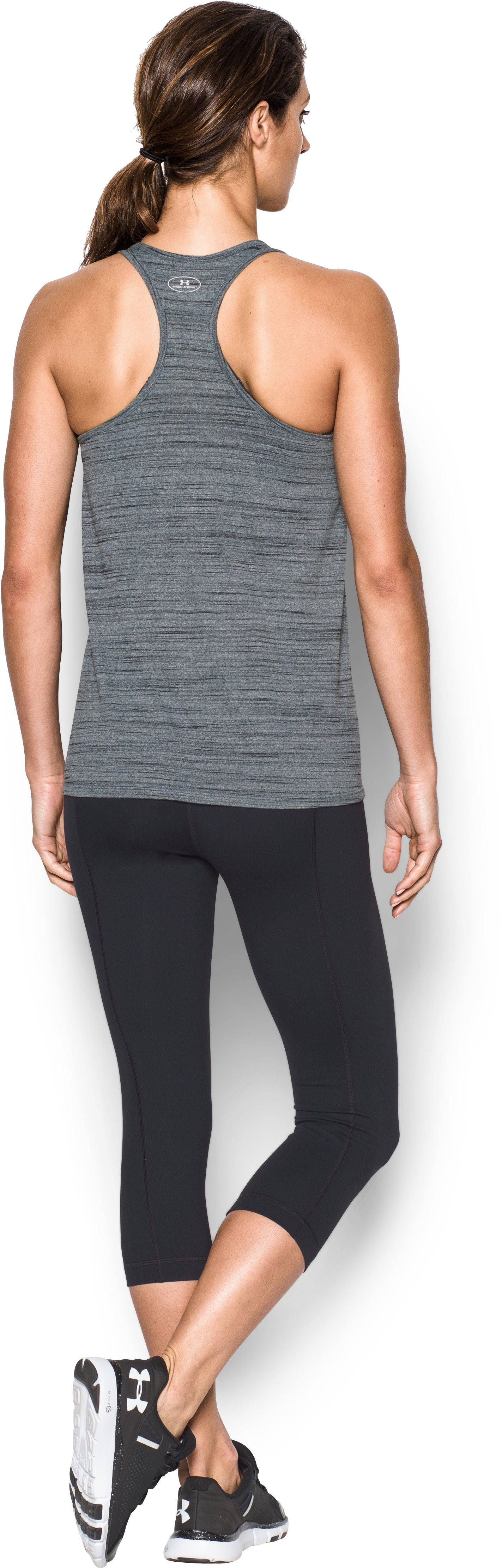 Women's Cincinnati Reds UA Tech™ Tank, Black , Back