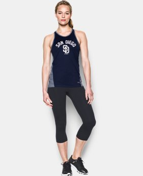 Women's San Diego Padres UA Tech™ Tank LIMITED TIME: FREE U.S. SHIPPING  $27.99