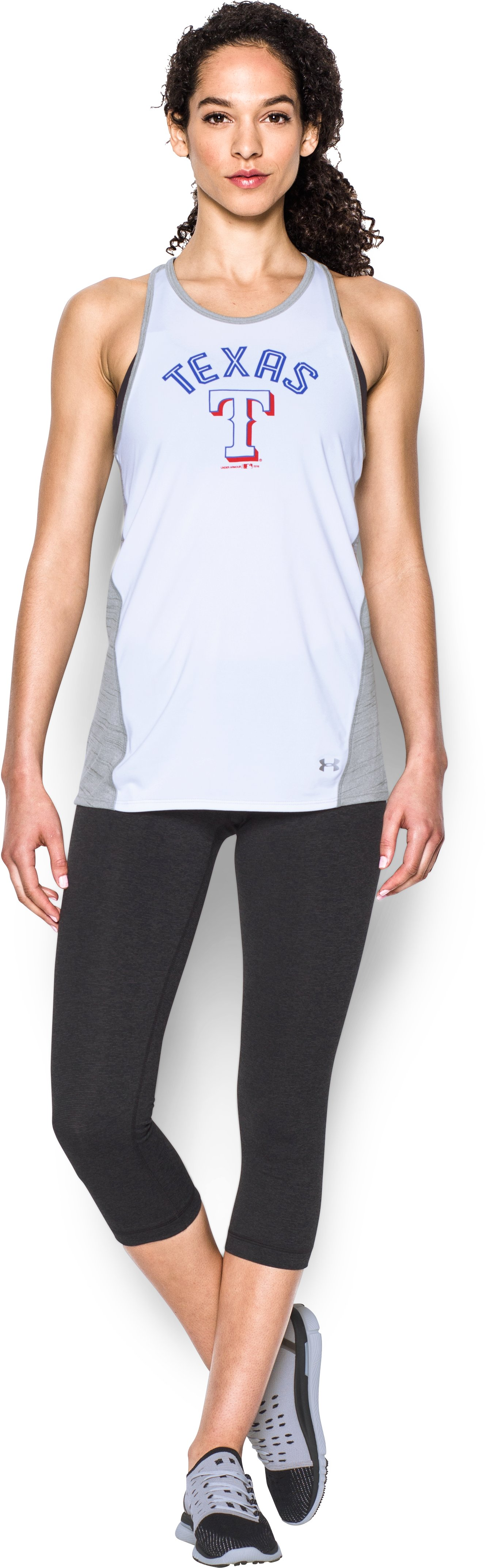 Women's Texas Rangers UA Tech™ Tank, White, Front