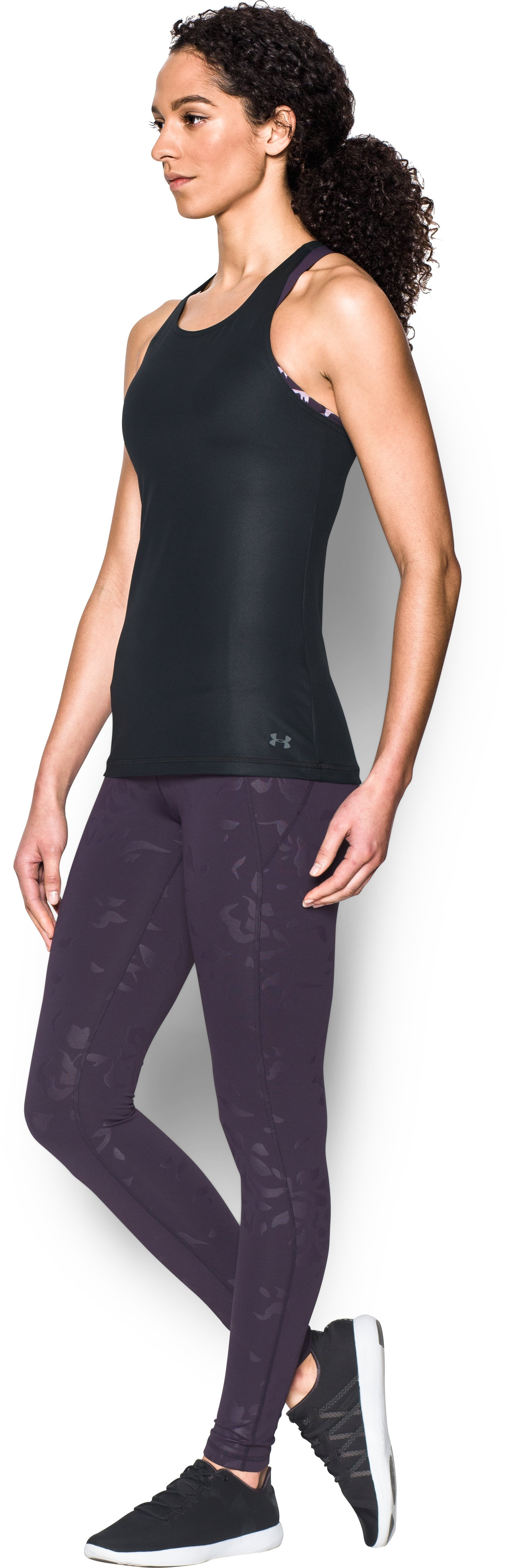 Women's UA Mirror Shine Tank, Black ,