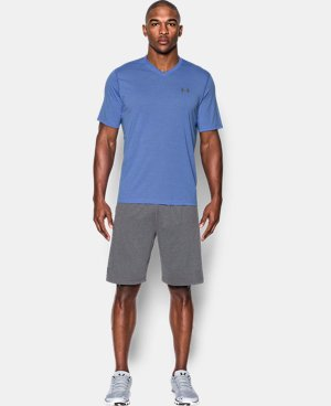 New Arrival Men's UA Threadborne Striped V-Neck T-Shirt  LIMITED TIME: FREE U.S. SHIPPING 1 Color $29.99