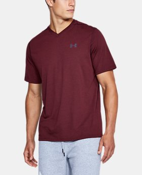 Men's UA Threadborne Striped V-Neck T-Shirt LIMITED TIME OFFER 1 Color $20.99