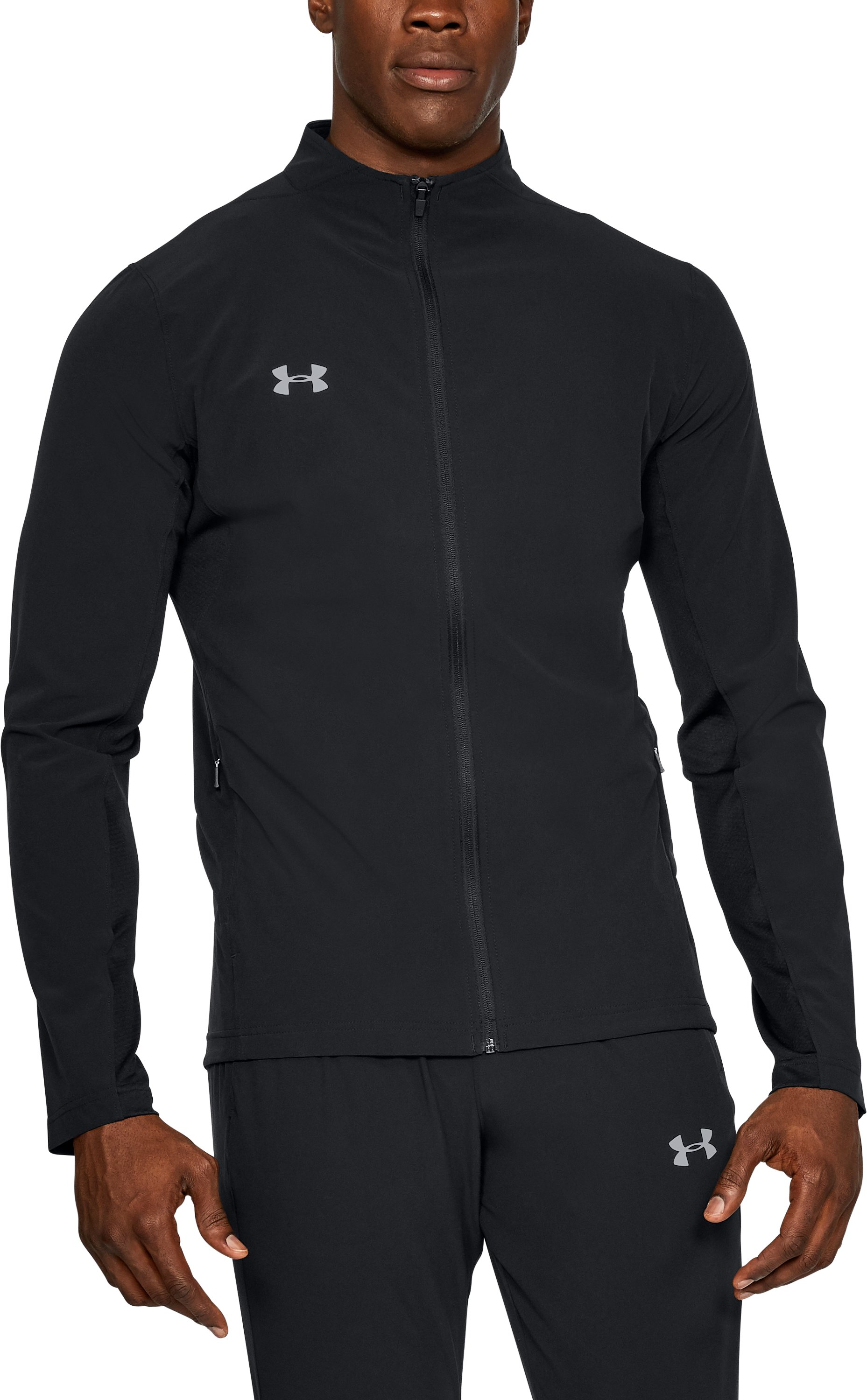 Men's UA Challenger Woven Warm-Up Suit, Black