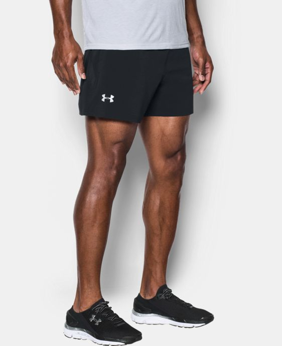 "New Arrival Men's UA Speedpocket Run 5"" Shorts  1 Color $49.99"