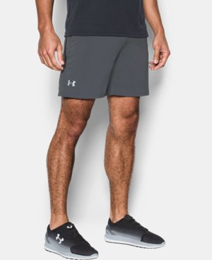 "New Arrival Men's UA Speedpocket Run 7"" Shorts LIMITED TIME: FREE U.S. SHIPPING  $44.99"