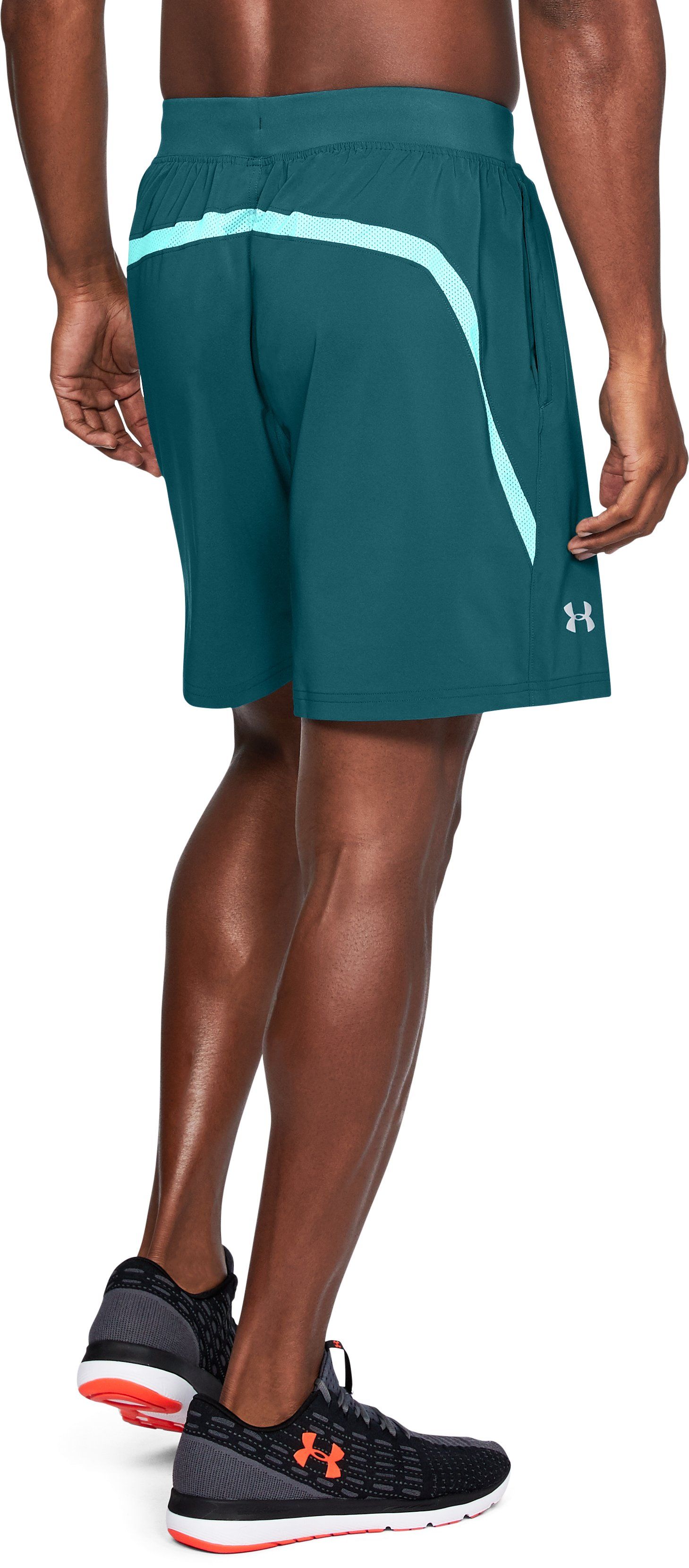 "Men's UA Speedpocket 7"" Shorts, TOURMALINE TEAL,"