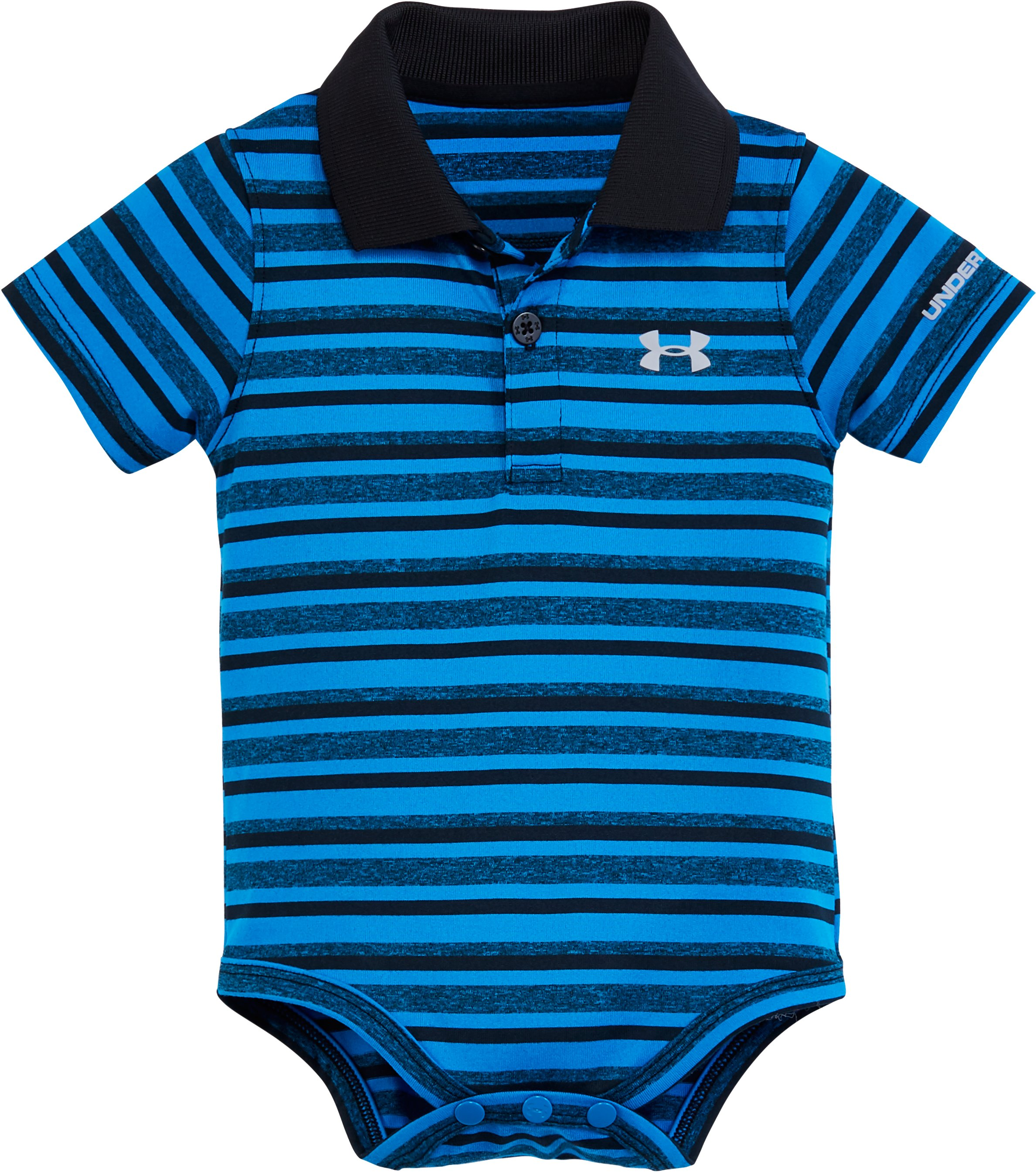Boys' Infant UA Polo Bodysuit , BRILLIANT BLUE, Laydown