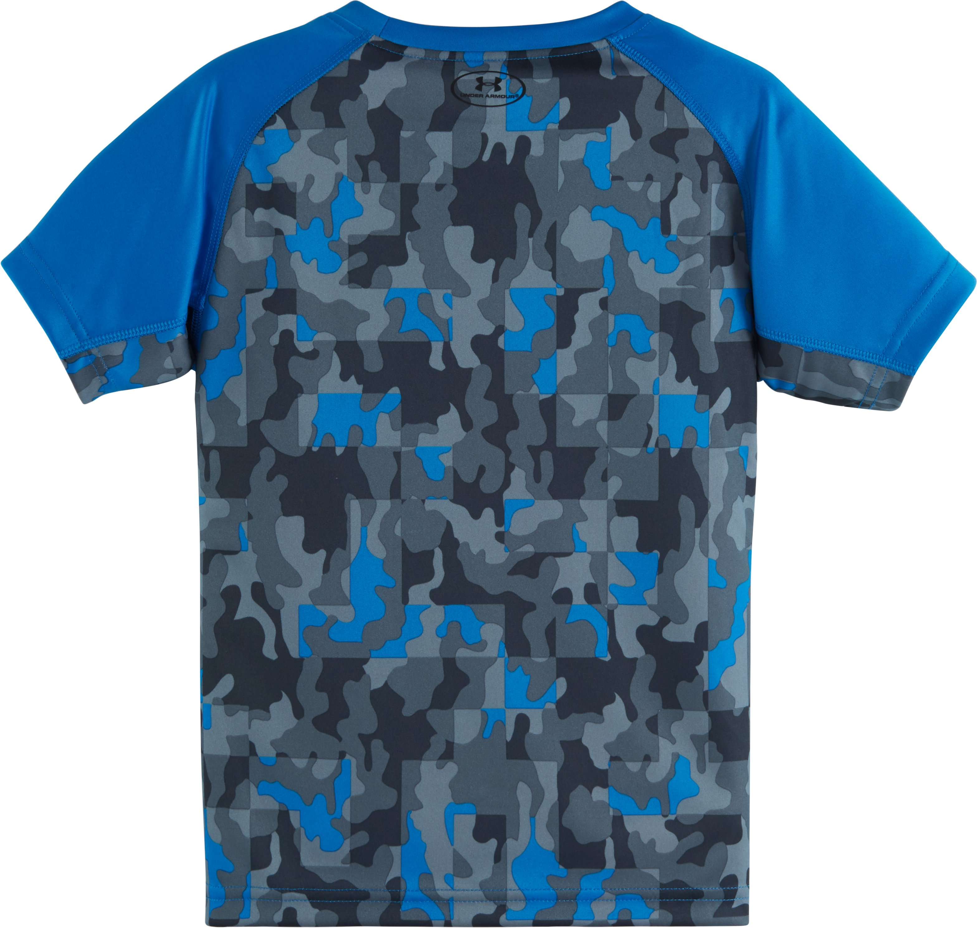 Boys' Toddler UA Atlas Camo Back Short Sleeve T-Shirt, BRILLIANT BLUE,