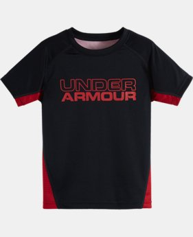 New Arrival Boys' Toddler UA Game Day Printed Back Short Sleeve T-Shirt  1 Color $24.99