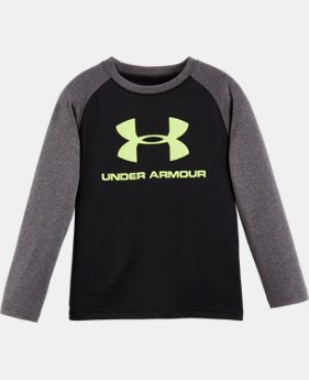 Boys' Pre-School UA Branded Raglan Long Sleeve T-Shirt  1 Color $22.99