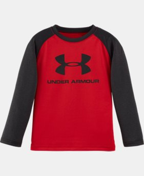 New Arrival Boys' Pre-School UA Branded Raglan Long Sleeve T-Shirt   $22.99