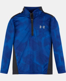 New Arrival Boys' Pre-School UA Hexiscope 1/4 Zip LIMITED TIME: FREE SHIPPING 1 Color $34.99