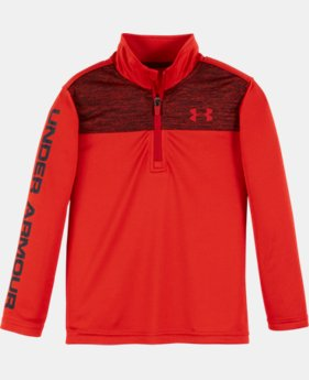 New Arrival Boys' Pre-School UA Tech™ Twist 1/4 Zip LIMITED TIME: FREE SHIPPING  $34.99