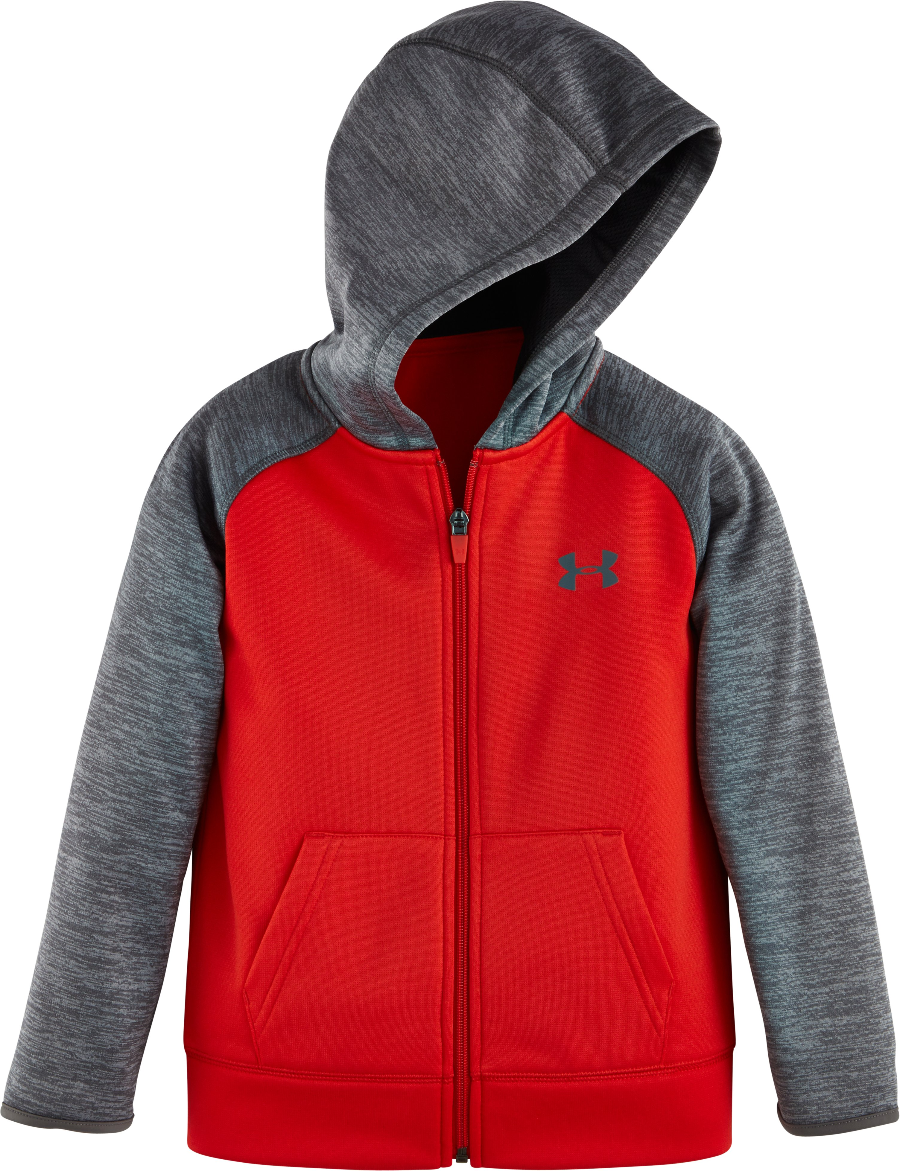 Boys' Toddler UA Armour® Fleece Twist Raglan Hoodie, Red