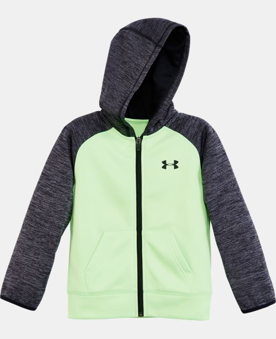 New Arrival Boys' Toddler UA Armour® Fleece Twist Raglan Hoodie   $42.99