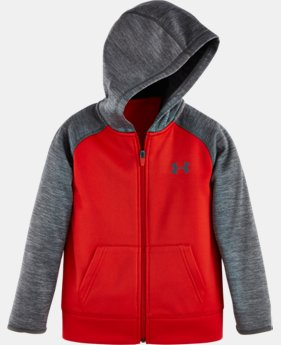 New Arrival Boys' Pre-School UA Armour® Fleece Twist Raglan Hoodie   $42.99
