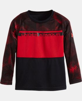 Boys' Pre-School UA Printed Long Sleeve LIMITED TIME: FREE U.S. SHIPPING 1 Color $29.99