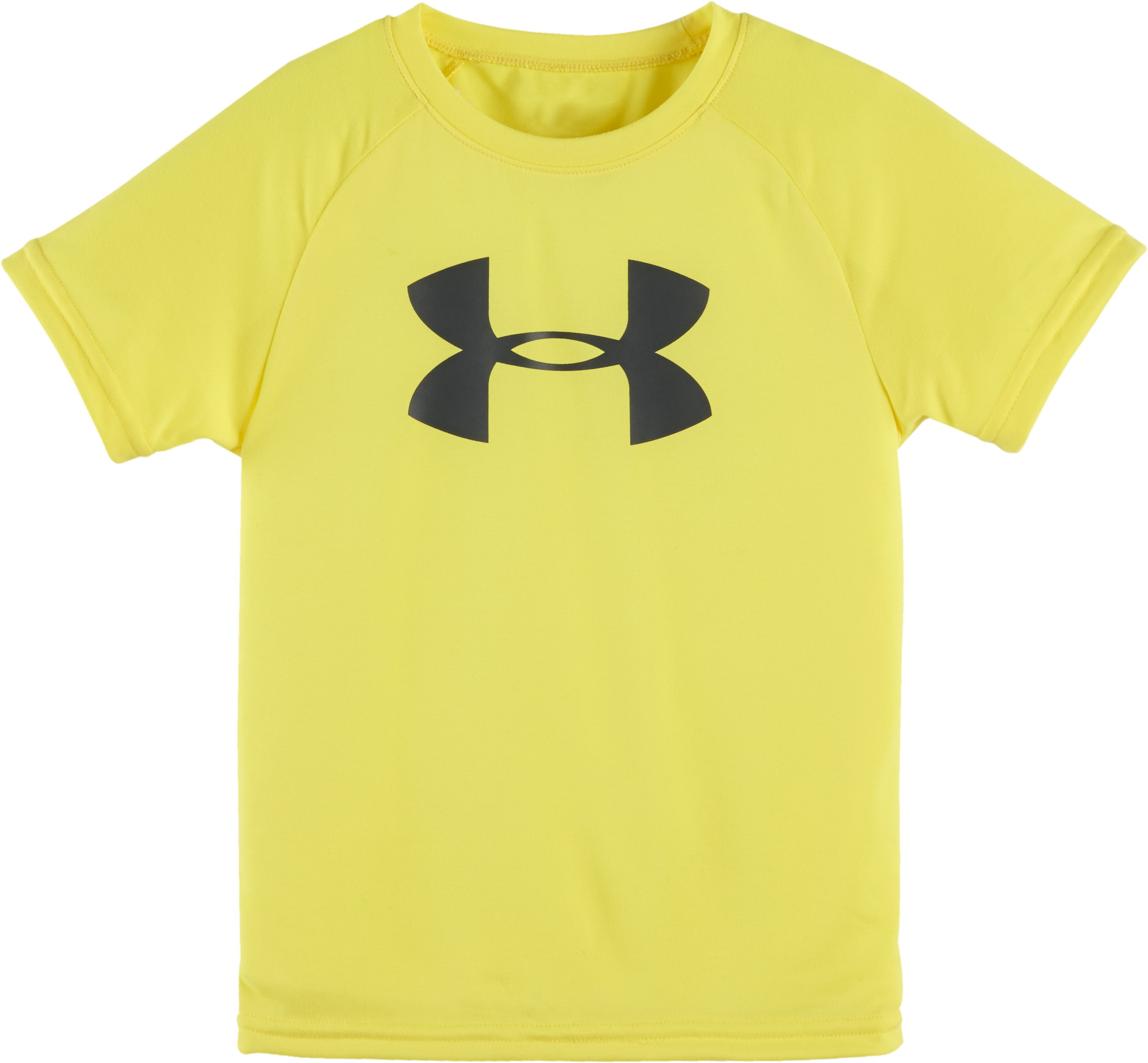 Boys' Pre-School UA Big Logo Short Sleeve T-Shirt, Sunbleached, Laydown