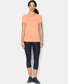 Women's UA Threadborne Train Jacquard V-Neck  1 Color $20.99
