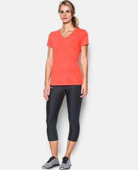 Women's UA Threadborne Train Jacquard V-Neck  1 Color $29.99