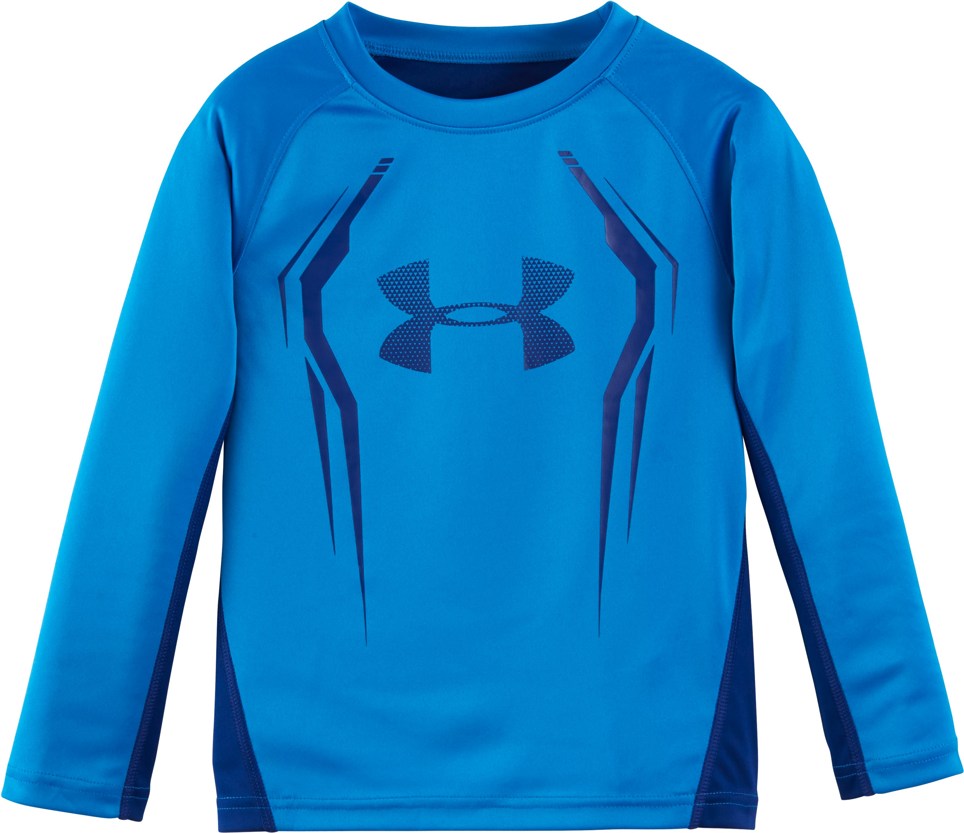 Boys' Pre-School UA Maxed Out Long Sleeve, BRILLIANT BLUE, Laydown