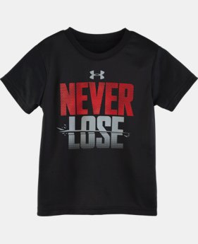 Boys' Toddler UA Never Lose Short Sleeve T-Shirt LIMITED TIME: FREE U.S. SHIPPING 1 Color $13.99