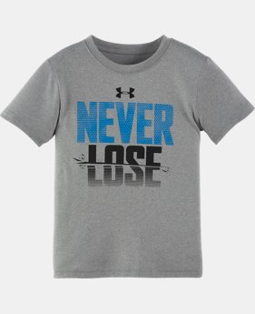 New Arrival Boys' Pre-School UA Never Lose Short Sleeve T-Shirt  1 Color $17.99