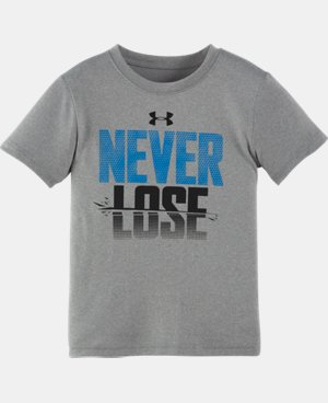 Boys' Pre-School UA Never Lose Short Sleeve T-Shirt LIMITED TIME: FREE U.S. SHIPPING  $13.99