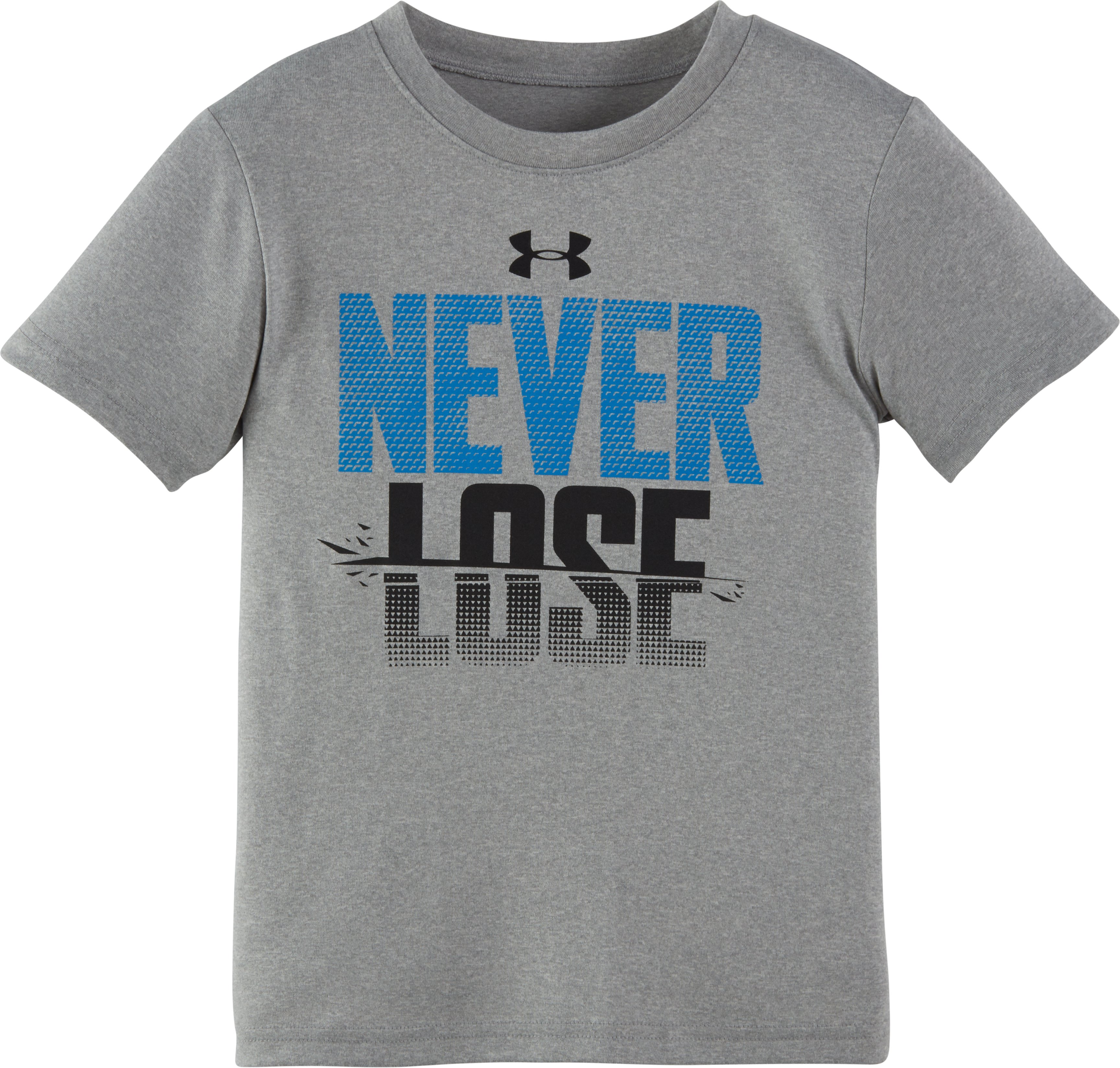 Boys' Infant UA Never Lose Short Sleeve T-Shirt, True Gray Heather, Laydown