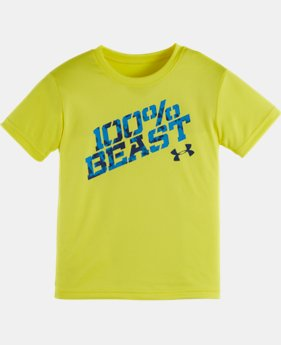 New Arrival Boys' Toddler UA 100% Beast Short Sleeve T-Shirt  1 Color $17.99