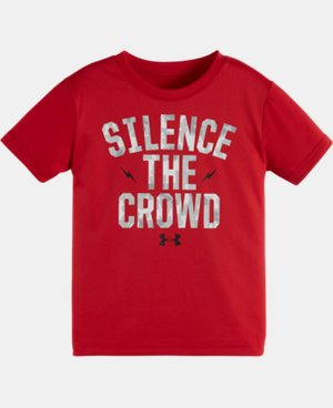 New Arrival Boys' Toddler UA Silence the Crowd Short Sleeve T-Shirt  1 Color $17.99