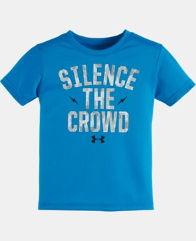 New Arrival Boys' Toddler UA Silence the Crowd Short Sleeve T-Shirt   $17.99