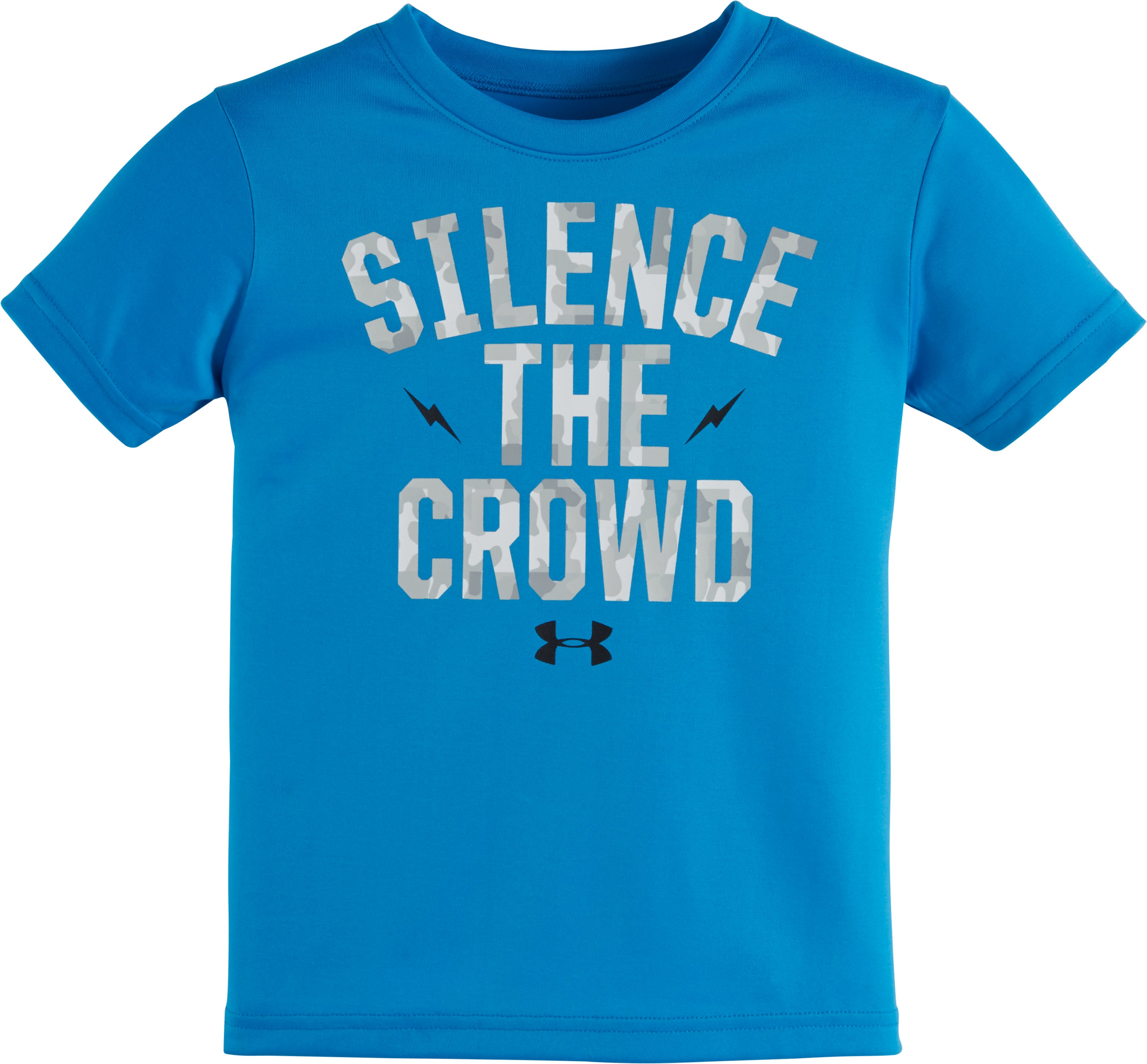 Boys' Infant UA Silence the Crowd Short Sleeve T-Shirt, BRILLIANT BLUE, zoomed image