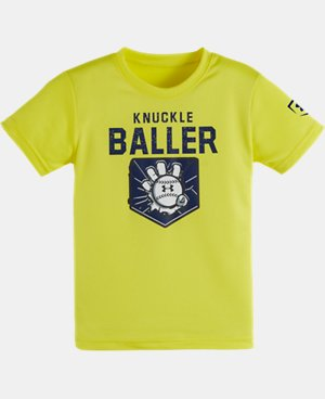 New Arrival Boys' Toddler UA Knuckle Baller Short Sleeve T-Shirt   $17.99