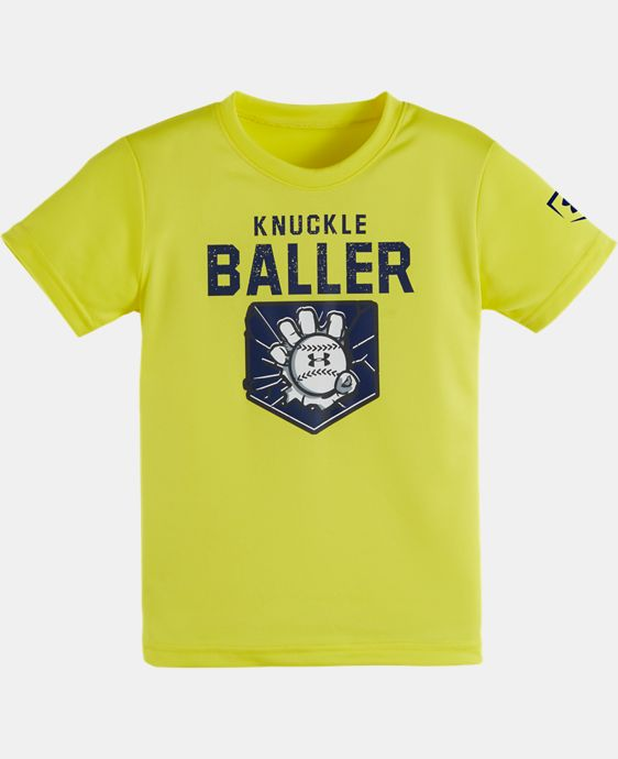 Boys' Pre-School UA Knuckle Baller Short Sleeve T-Shirt  1 Color $17.99