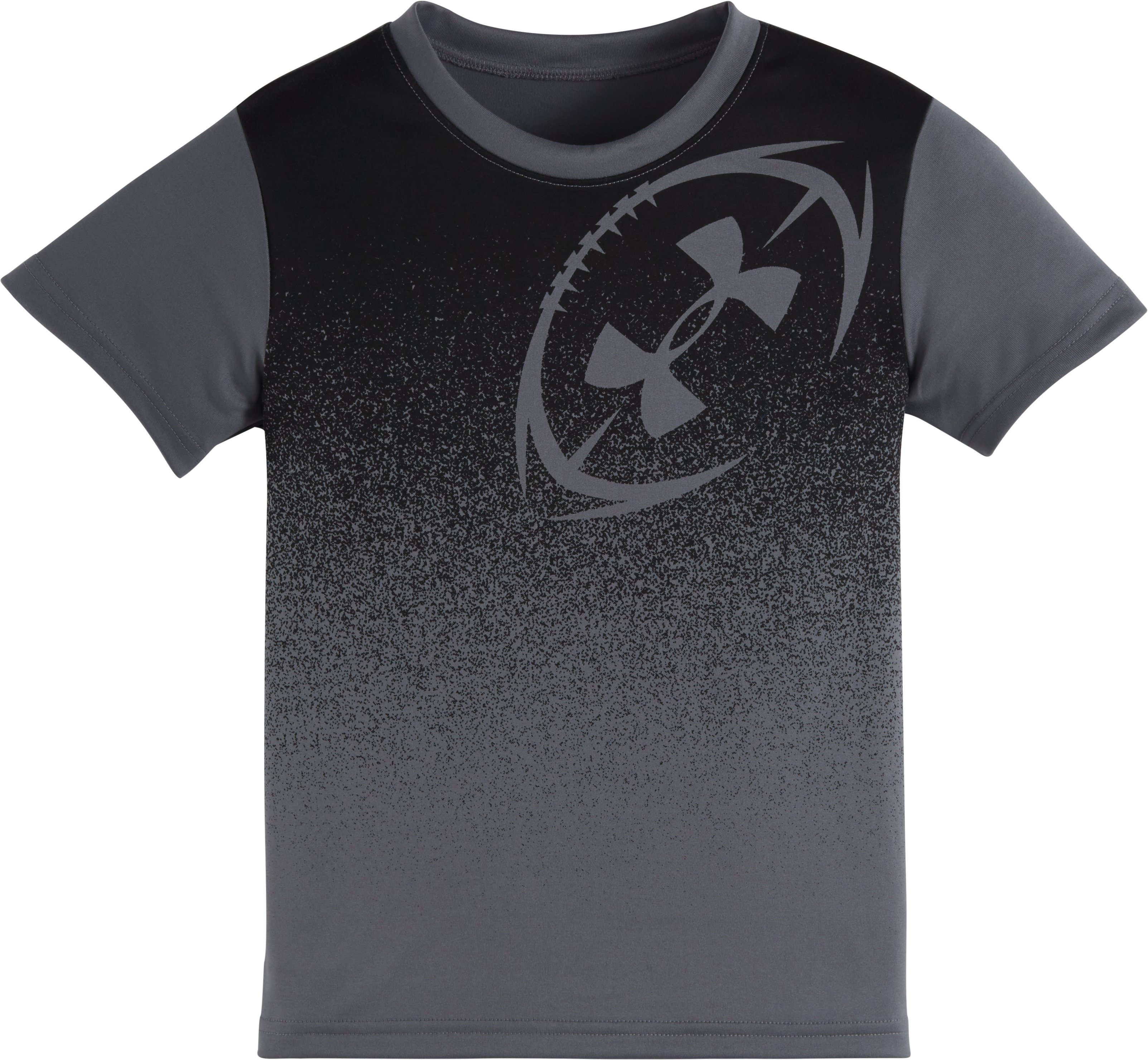 Boys' Pre-School UA Shoulder Hit Short Sleeve T-Shirt, Graphite