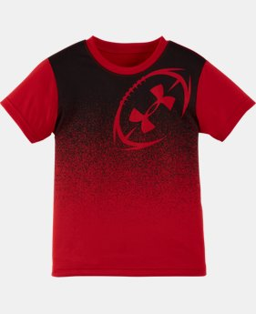 New Arrival Boys' Pre-School UA Shoulder Hit Short Sleeve T-Shirt   $17.99