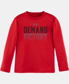 New Arrival Boys' Pre-School UA Demand Victory Short Sleeve T-Shirt  1 Color $22.99