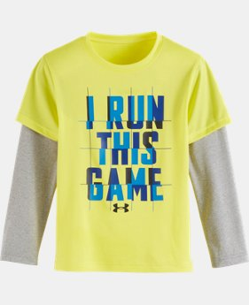 Boys' Toddler UA I Run This Game Slider LIMITED TIME: FREE U.S. SHIPPING 1 Color $20.99