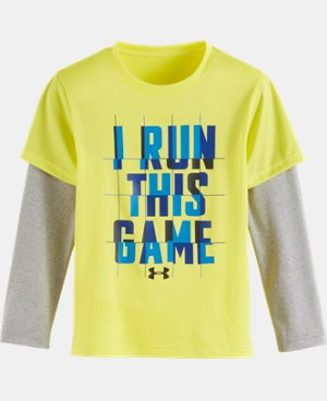 New Arrival Boys' Toddler UA I Run This Game Slider   $27.99