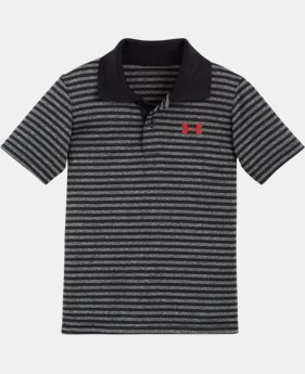 New Arrival Boys' Pre-School UA Play Off Stripe Polo Shirt LIMITED TIME: FREE SHIPPING 2 Colors $28.99