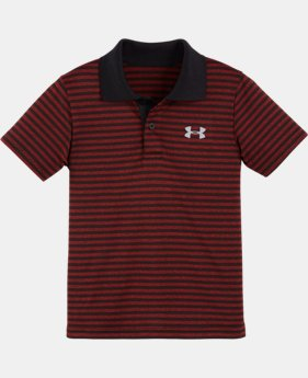 New Arrival Boys' Pre-School UA Play Off Stripe Polo Shirt   $28.99