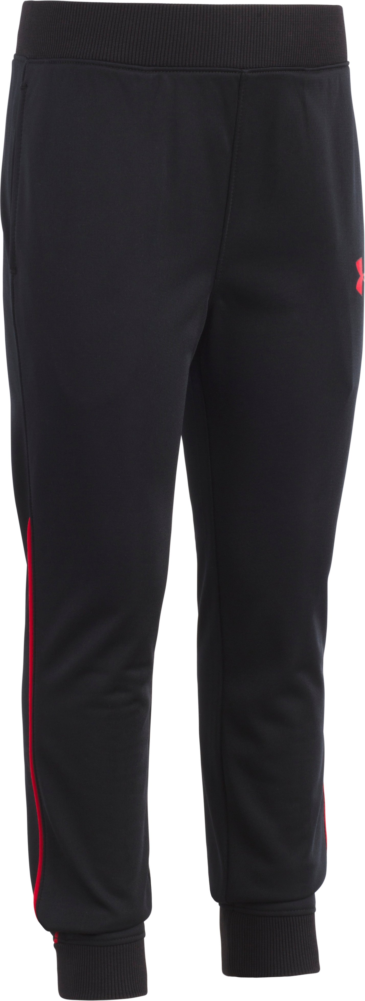 Boys' Toddler UA Pennant Tapered Pants, Black , Laydown