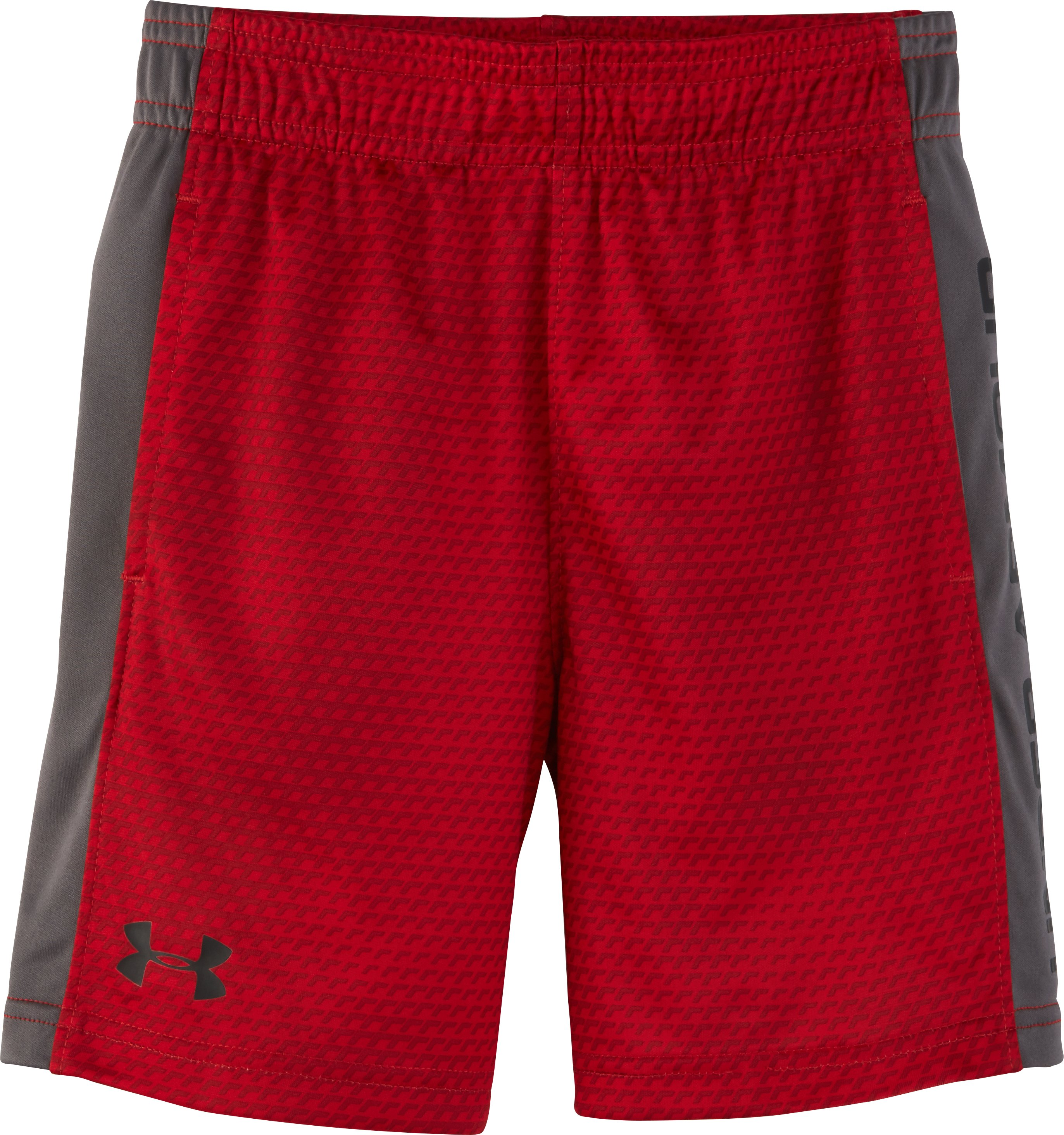 Boys' Pre-School UA Gameday Eliminator Shorts, Red, Laydown